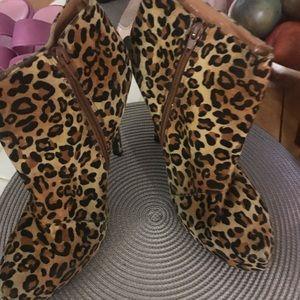 Charlotte Russe leopard boots